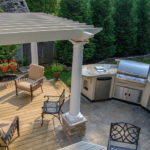 Outdoor Kitchens, Outdoor Custom Kitchen, Big Green Egg, BBQ, Backyard Makeover
