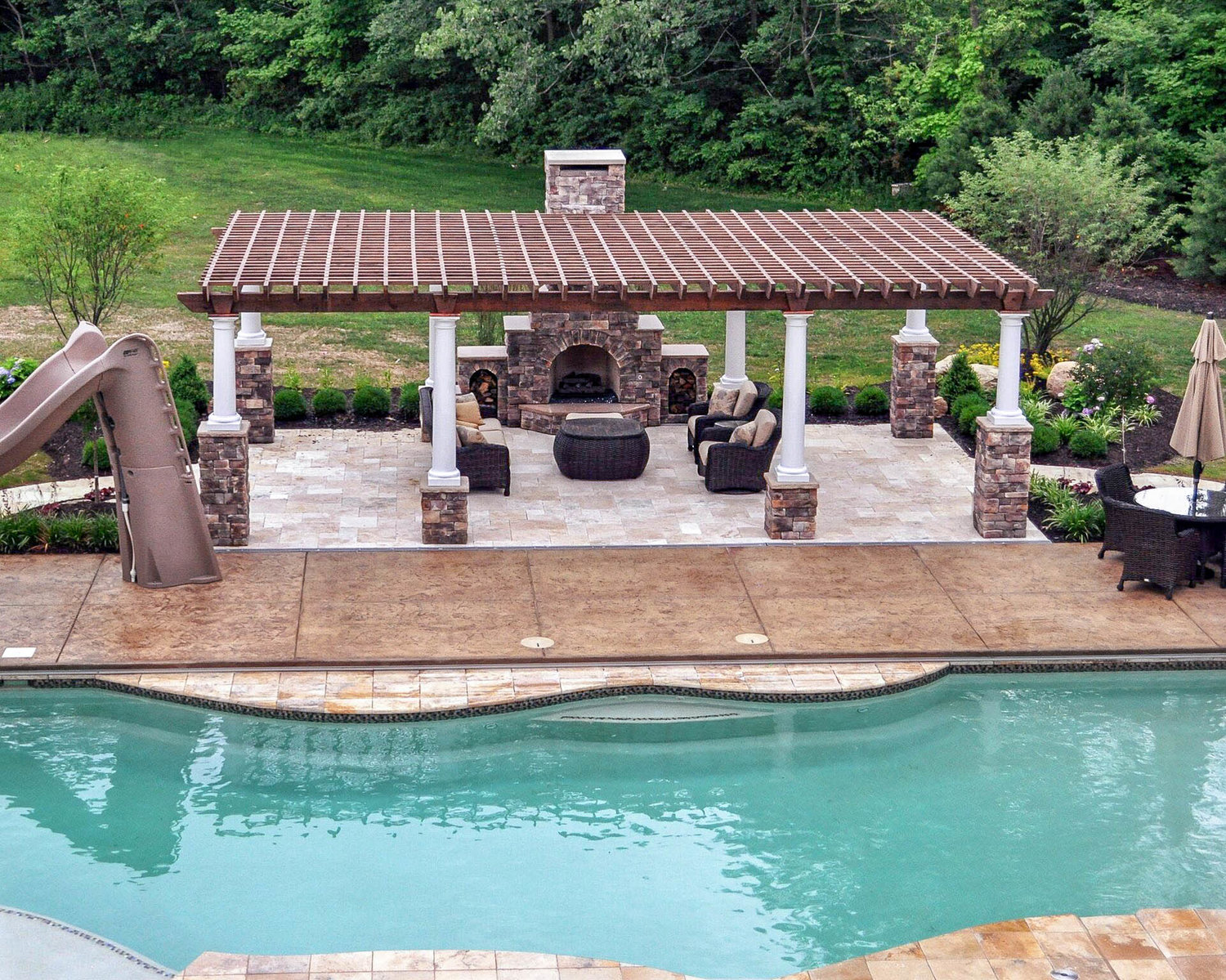Summerbrook Outdoors - Thatcher Pools and Spas on Outdoor Kitchen By Pool id=62262